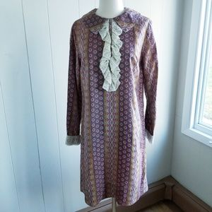 1960s Unlabeled Multi-Color Poly Dress